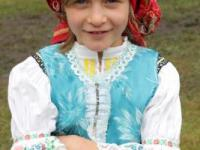 Girl wearing a traditional folklore costume