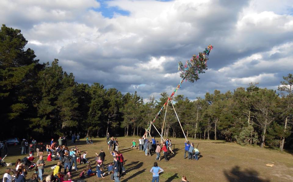 Maypole Building & Spring Traditions 2016