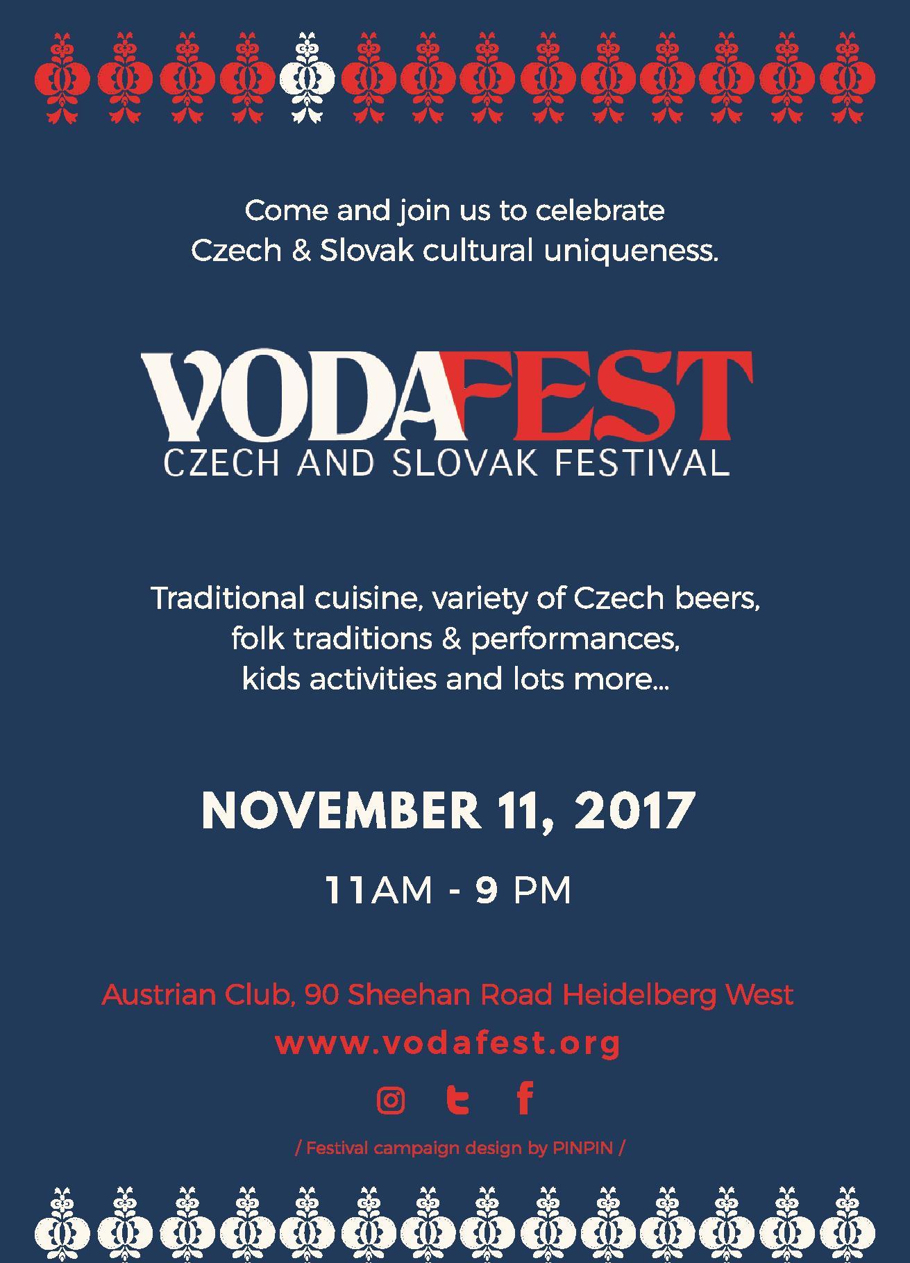 VodaFest Czech & Slovak Festival 2017